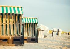 Beach chairs on the beach Royalty Free Stock Photos