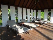Beach chairs and cabana Royalty Free Stock Photo