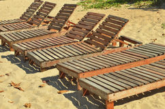 Beach chairs. Royalty Free Stock Photo