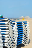 Beach chairs in Dutch IJmuiden Stock Image