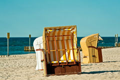 Beach chairs Stock Image