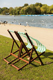 Beach chairs in Hyde Park Stock Photography