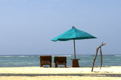 Beach chairs in indonesia Stock Photography
