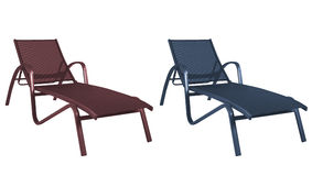 Beach chairs isolated Stock Images