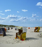 Beach chairs juist (germany) Stock Photo