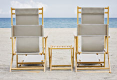 Beach chairs in Miami Florida Royalty Free Stock Images