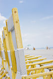 Beach chairs in Miami Florida Stock Photo
