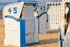 Beach chairs in Northern Germany Stock Photography