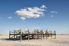 Beach Chairs Northern Germany Royalty Free Stock Photos
