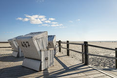 Beach Chairs Northern Germany Royalty Free Stock Photography