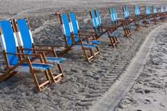 Beach chairs Royalty Free Stock Photo