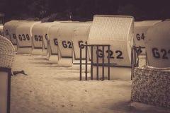 Beach chairs rental. Stock Photos