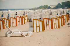 Beach chairs rental. Stock Photography