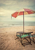 Beach chairs retro style Royalty Free Stock Photos