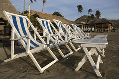 Beach chairs in San Juan del Sur Nicaragua Royalty Free Stock Photography