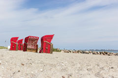 Beach chairs by the sea Royalty Free Stock Image