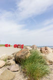 Beach chairs by the sea Royalty Free Stock Photo