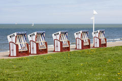 Beach Chairs By The Sea, Norderney Royalty Free Stock Images
