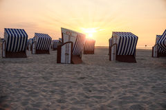 Beach chairs and sunlight Royalty Free Stock Photos