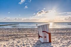 Beach chairs after sunrise Stock Photography