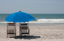 Beach Chairs Royalty Free Stock Photography