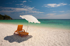 Beach Chairs White Sand Koh Lipe Stock Photos