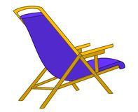 Beach chaise lounge Royalty Free Stock Image