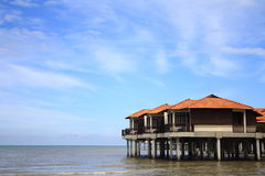 Beach Chalet royalty free stock image