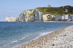Chalk cliffs around Étretat royalty free stock photos