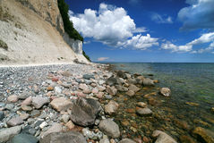 Beach and chalk cliffs of the German island Ruegen Stock Photography