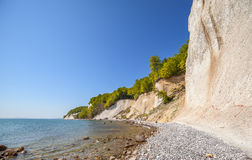 Beach and chalk cliffs on the Rugen Island, Germany. Stock Photography