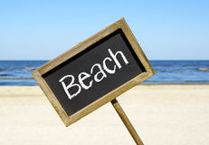 Beach chalkboard sign Royalty Free Stock Photo