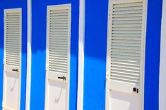 Beach changing room doors Royalty Free Stock Photo