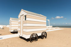 Beach changing rooms Royalty Free Stock Photos