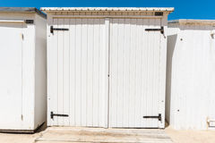 Beach changing rooms Royalty Free Stock Image