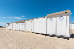 Beach changing rooms Stock Images