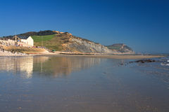 Beach in Charmouth, Dorset, UK. Royalty Free Stock Photo