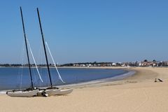 Beach at Chatelaillon Plage near La Rochelle - France royalty free stock photography