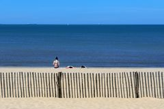 Beach at Chatelaillon Plage near La Rochelle - France royalty free stock image