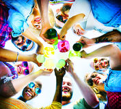 Beach Cheers Celebration Friendship Summer Fun Concept Royalty Free Stock Images