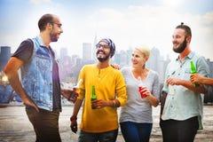 Beach Cheers Celebration Friendship Summer Fun Concept Royalty Free Stock Photo