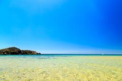 The beach of Chia su Giudeu, Sardinia. A summer day at the beach in Sardinia, Italy royalty free stock photos