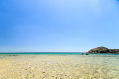 The beach of Chia su Giudeu, Sardinia Royalty Free Stock Images