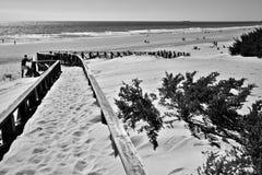 The beach in Chiclana  Stock Photos