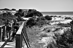 The beach in Chiclana  Royalty Free Stock Image