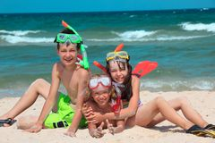 Beach children Royalty Free Stock Images