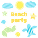 Beach children`s party. Royalty Free Stock Images