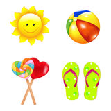 Beach Children's Set. Vector Stock Image