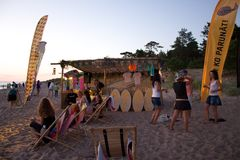 Beach chill out zone at Positivus festival Royalty Free Stock Image