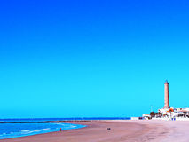 Beach of Chipiona in Cadiz. Andalusia. Spain Royalty Free Stock Image